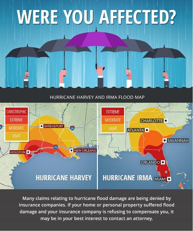 Hurricane Irma and Harvey Flood Map