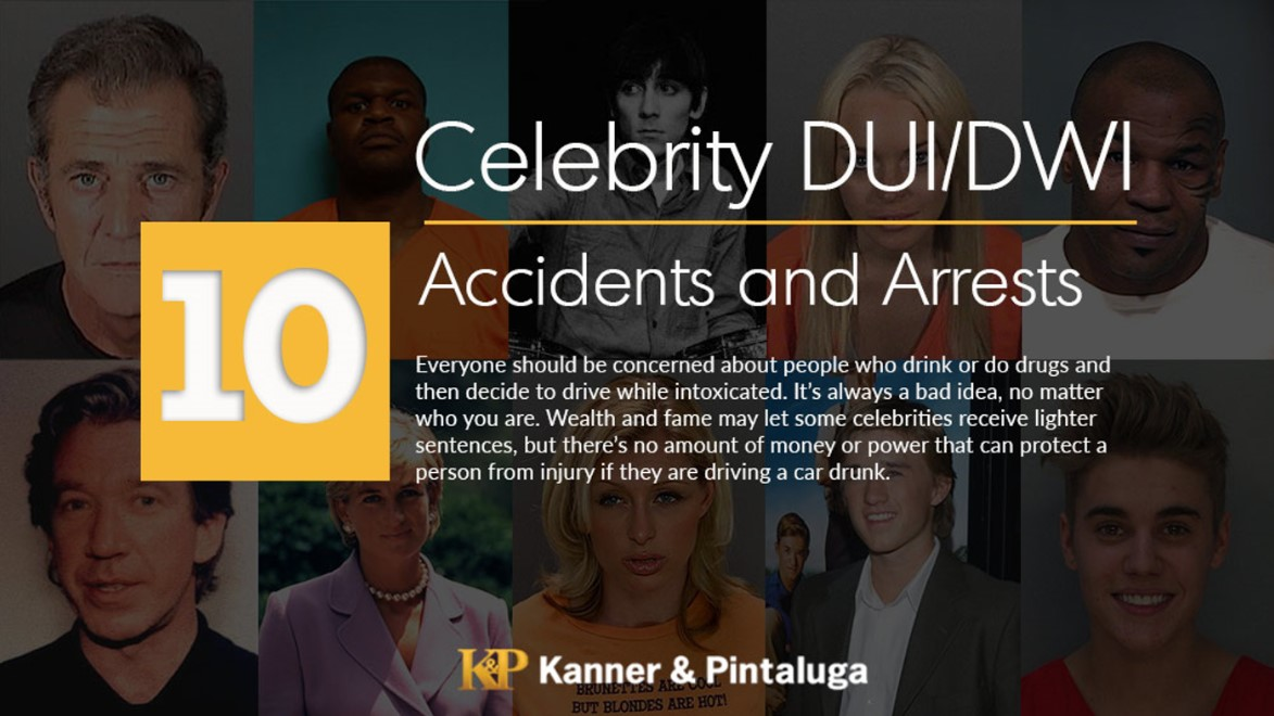 Celebrity DUI/DWI Accidents and Arrests