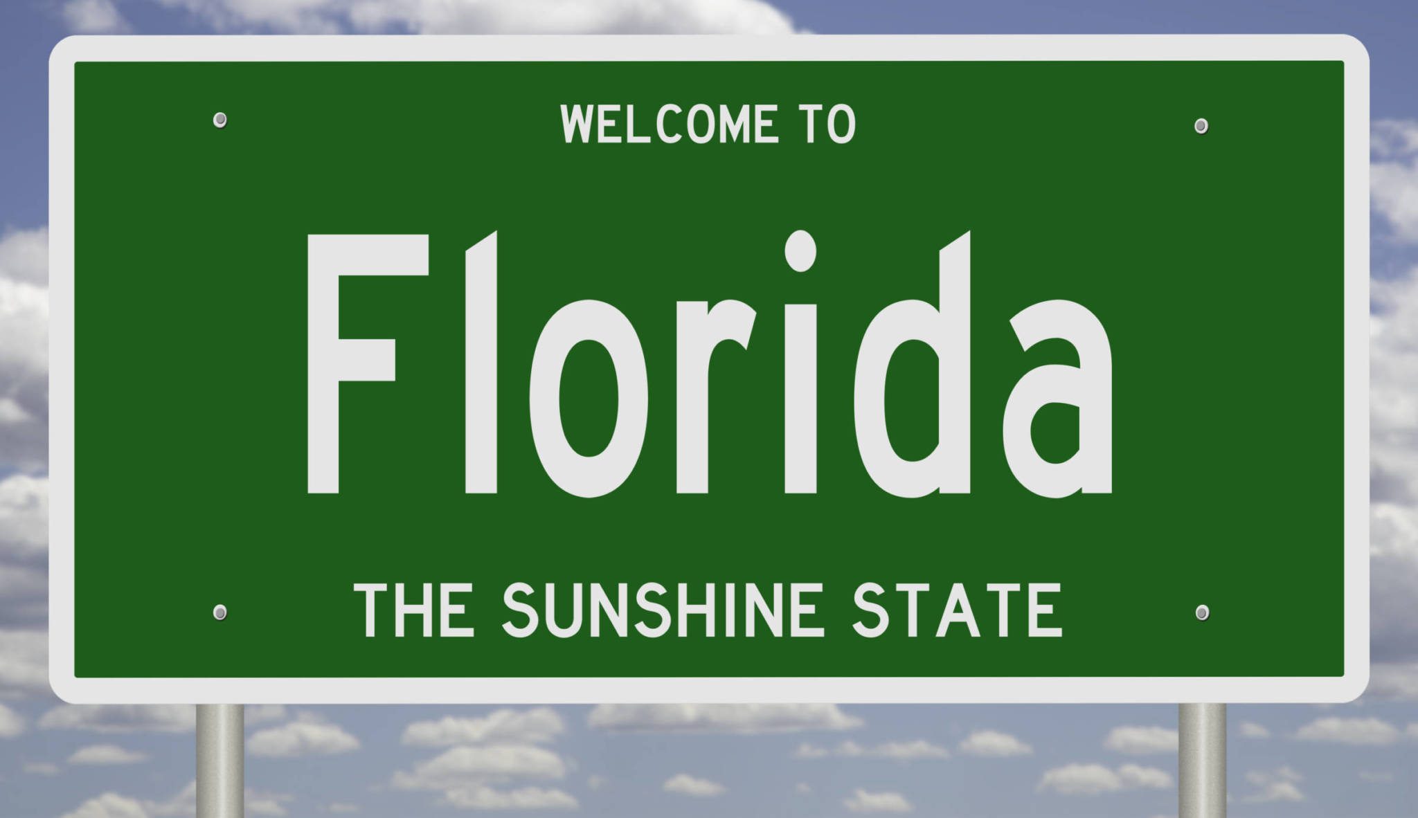 welcome to florida highway sign