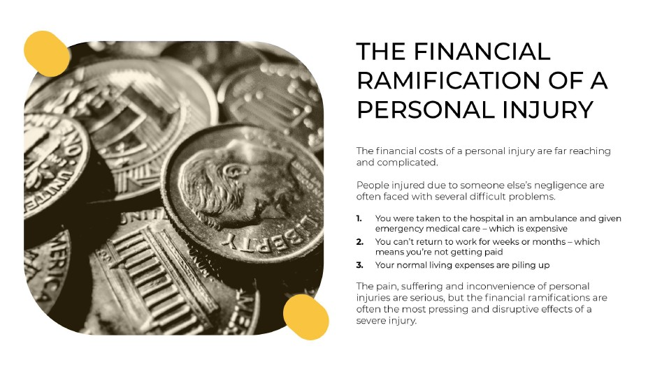 The Financial Ramification of a Personal Injury