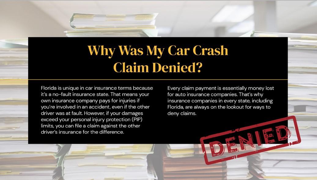 car accident claim denied