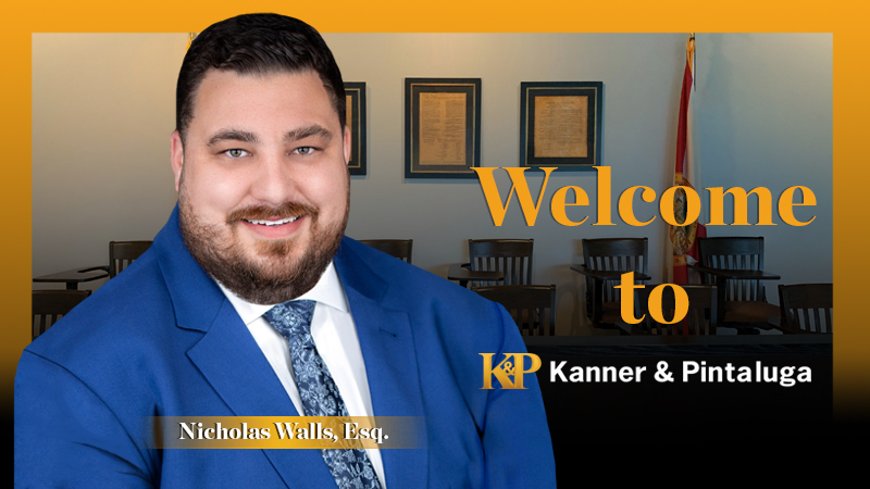 Kanner & Pintaluga's First Party Team Continues to Grow, Welcomes Nicholas Walls in Tampa