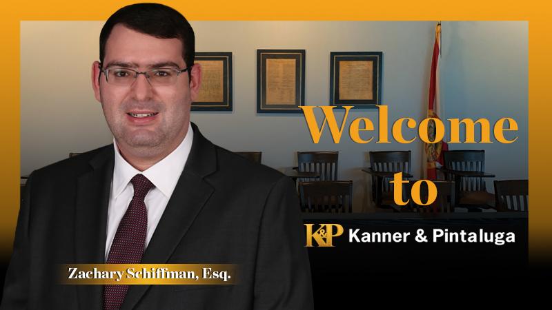 Kanner & Pintaluga Welcomes Zachary Schiffman in Boca Raton